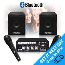 More details for fenton av380bt bluetooth usb mp3 amplifier karaoke microphone speaker set 80w