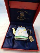 CHARLOTTE DI VITA Harvest Moon Rabbit Bunny Miniature Teapot CM177 NIB