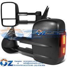 TOYOTA HILUX SR SR5 WORKMATE Retractable Towing mirror PAIR BLACK