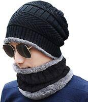 Scarf Beanie Winter Hat Warm Women Set Knitted Ski Cap Knit Gloves And Neck