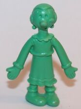 Vintage Rubber Olive Oyl Oil Oyle Oile from Popeye 2 inch figure green