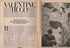 Coupure de presse Clipping 1983 Valentine Hugo   (4 pages)