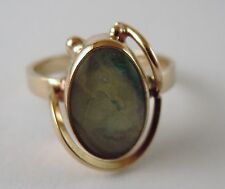 100% Genuine Vintage 9k Solid Yellow Gold Opal Ring Sz 7 US
