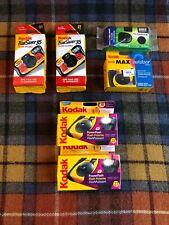 Lot of 6 Kodak Fuji Film Disposable Cameras 27 exp. New, Expired See Pics