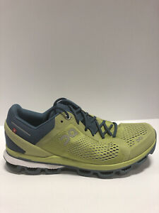On Men's Cloudsurfer, Green/Navy Running Shoes, Size 8M.