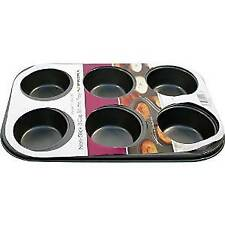 Prima 6 Cup Muffin Cake Pan Baking Tray Deep Tin Fairy Cupcake Steel Bakeware