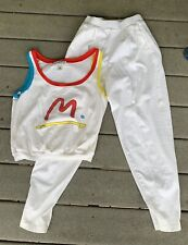 80's Neo Peter Max Swim Womens Shirt Pants Summer Outfit Beach Vintage Small