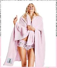 "Nip ~ Victoria's Secret Pink About It Soft Plush Cozy Blanket Throw 50""x60"""