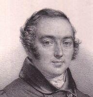 Portrait XIXe Nicolas René Berryer Magistrature Comte de la Ferrière
