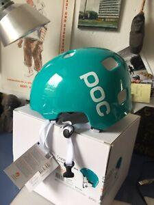 POC Crane Pure Helmet Fahrrad Helm XL 60-61 Beryl Green Hydrogen White Neu OVP