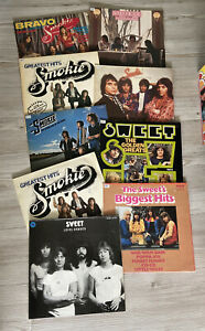 "Konvolut 9 LP's The Sweet-Smokie-biggest Hits Bravo Pop 12"" Vinyl #99"