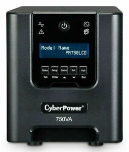 CyberPower Smart App Sinewave 750VA UPS 6-Outlets Black (PR750LCD)