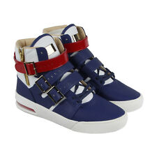 Radii Straight Jacket Plus Mens Blue Leather High Top Sneakers Shoes 9