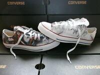 Scarpe Converse All Star Low Custom Pink Floyd, artigianali Made in Italy
