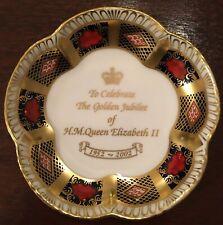 Royal Crown Derby - Imari Petal Dish - Queen Elizabeth Golden Jubilee 2002