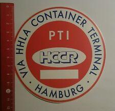 Aufkleber/Sticker: PTI HCCR Hamburg Via HHLA Container Terminal (08091698)