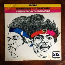 """JIMI HENDRIX and LITTLE RICHARD """"FRIENDS FROM THE BEGINNING"""" ALA 1972 12"""" LP"""