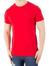 Magliette da uomo rossi basici casual