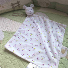 Carter's Bunny Rabbit Rattle Precious Firsts Flowers Baby Girl Security Blanket