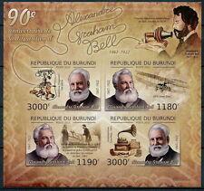 BURUNDI 2012 MNH Imperf SS, Graham Bell, Invetor, Telephone -