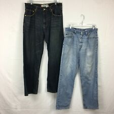 Lot Of 2 Used Levis Light/Dark Wash 559 Relaxed Straight Fit Jeans Men Sz 34x32