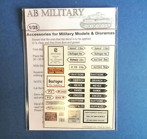 1/35 Scale WWII Ardennes 1944/1945 Signs