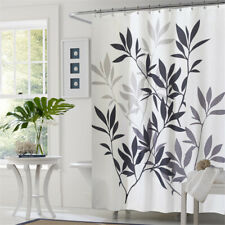 Waterproof Polyester Bathroom Shower Curtain Sheer Panel Decor with Hooks LS