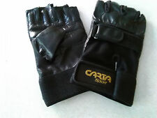 Leather Weight Lifting/Cycling Gloves Padded Hand Protection Gym Kit Size Large