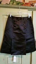 ETCETERA Black Silk Skirt Dressy nwt  Size 0