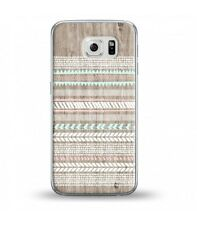 Coque Galaxy S7 Edge effet Bois 2 Aztec ethnique rose blanc