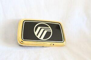 1988-1991 MERCURY GRAND MARQUIS 24K GOLD PLATED TRUNK LOCK EMBLEM-E8MB5443320AD