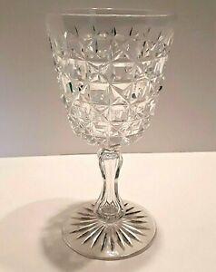 VINTAGE CUT CRYSTAL LARGE WATER/WINE GOBLET/GLASS - Waterford Stuart Webb