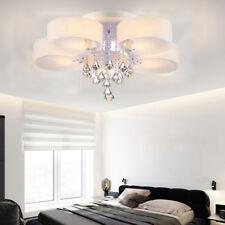 5 Flammig LED E27 Kristall Deckenlampe Kronleuchter Fernbedienung Lüster mit FB