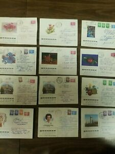 BELARUS First 43 Postally Used Prestamped Envelopes. August 1991-1996