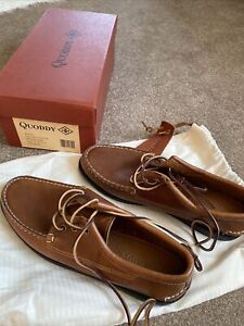 Quoddy Blucher Charcoal Camp Sole -Whiskey Upper 8 UK Brand New In A Box RRP£239
