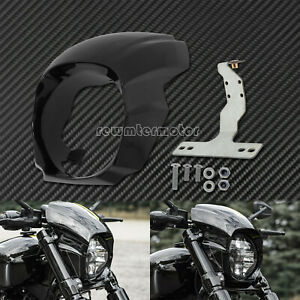 Gloss Black Headlight Fairing Cover Fit For Harley Softail Breakout 2018-2020