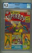 Superboy 129 (CGC 9.2) White pgs; 80 Page Giant; Reprints origin Mon-El (c#23061