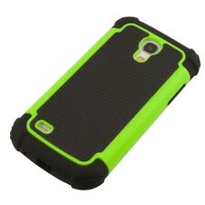 TPU OUTDOOR HARD CASE FÜR SAMSUNG GALAXY S4 MINI NEON GRÜN COVER HÜLLE BUMPER
