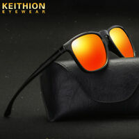 KEITHION Men Sunglasses Vintage Design Mirror Polarized Driving  Sport Glass