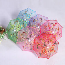 Dollhouse Miniature 1:12 Toy Bedroom Furniture Garden Flower Umbrella Decorative