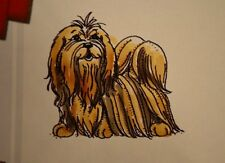 Lhasa Apso  Dog RETIRED Art impressions rubber stamps