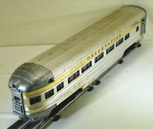 POST-WAR LIONEL No. 2521 OBSERVATION ILLUMINATED PASSENGER CAR
