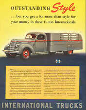 International Truck, 1 1/2 ton Delivery Truck, Vintage 1939 Print Ad