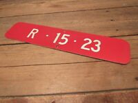 Vintage RARE Porcelain From Wisconsin Location Fire Station Sign