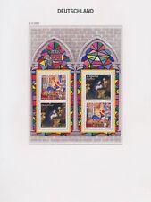 XC94770 Germany 2001 christmas religious art good sheet MNH fv 1,76 EUR