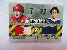Danny Maloney Tiger Williams 2011/12 ITG Combatants 2 Color w/Seam Wings Leafs