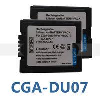 2X Battery For Panasonic CGR-DUO6 VW-VBD070 VWVBD070 VBD070 VSB0470 CGADU14 New