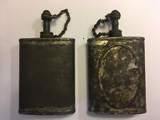 Vintage WWII Oil Can Gunners Rifle Maintenance GI Army Pocket Flask Unpainted-A