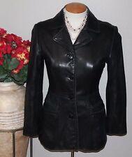 BP Lamb Skin Leather Button Up Blazer Jacket Women's Size XS