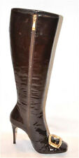 GIANMARCO LORENZI PATENT LEATHER ZIPPER BOOTS SIZE 36 NEW